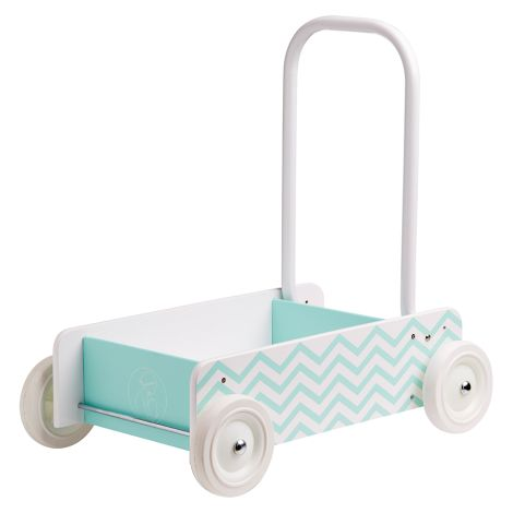 Kids Concept Lauflernwagen mit Bremse Türkis