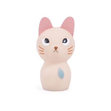 Moulin Roty Nachtlicht Katze aufladbar mit USB Après la pluie