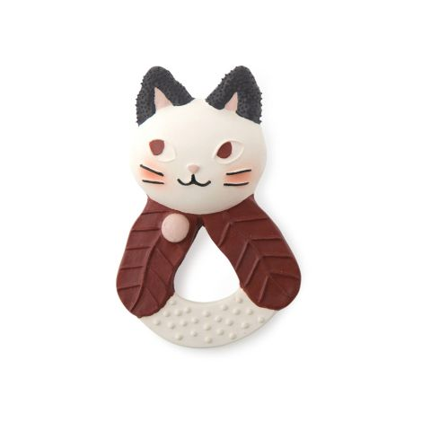 Moulin Roty Beißring Kautschuk Katze