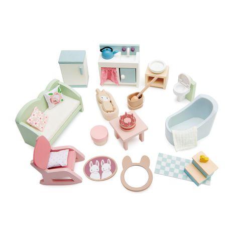Tender Leaf Toys Puppenmöbel Set im Landhaus-Stil