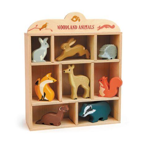 Tender Leaf Toys Waldtiere im Setzkasten