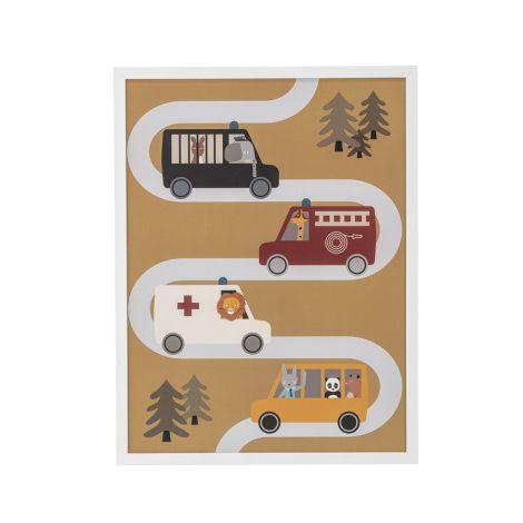Bloomingville Bild inkl. Rahmen Autos