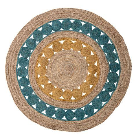 Bloomingville Teppich Marlin Multi-Color Jute 119 cm
