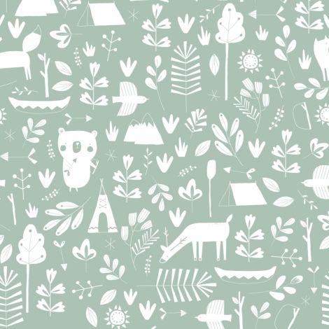 little dutch tapete adventure mint online kaufen emil paula kids. Black Bedroom Furniture Sets. Home Design Ideas