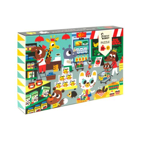 Petit Monkey Puzzle Supermarkt 48 Teile