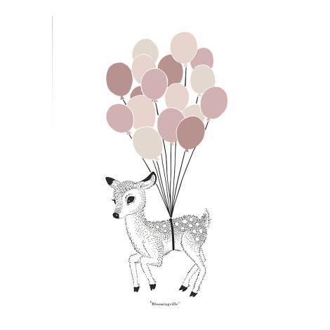 Bloomingville Poster Reh Ballons
