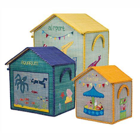 Rice Spielzeugkorb Boys Houses