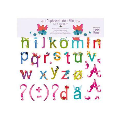 Djeco Wandsticker Alphabet Mädchen