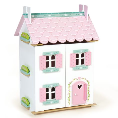 Le Toy Van Puppenhaus Sweetheart Cottage inklusive Möbel