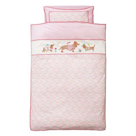 Room Seven Bettwäsche Dogs/Clochettes Pink