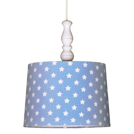 Deckenlampenschirm Sterne Hellblau
