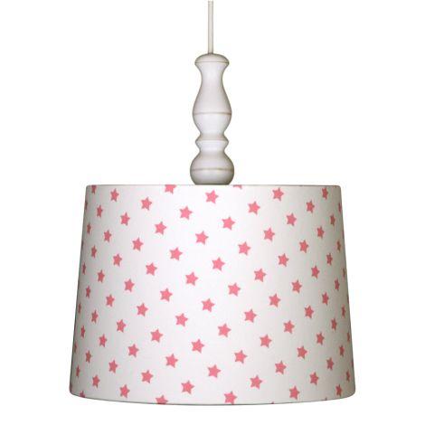 Deckenlampenschirm Sterne Pink