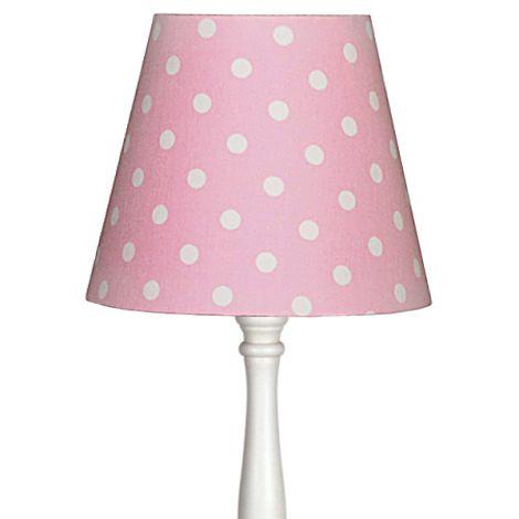 Lampenschirm Rosa mit Punkten