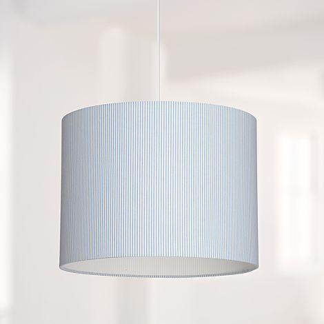 Lampenschirm Hellblau Gestreift
