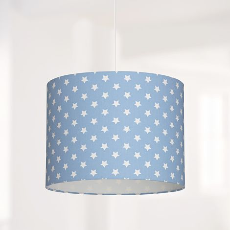 Lampenschirm Sterne Hellblau