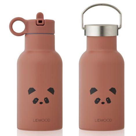 LIEWOOD Trinkflasche Anker Panda Dark Rose 2 Verschlüsse/farbiger Verschluss
