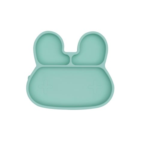 We Might Be Tiny Teller mit Saugfuß Stickie Plates Bunny Minty Green