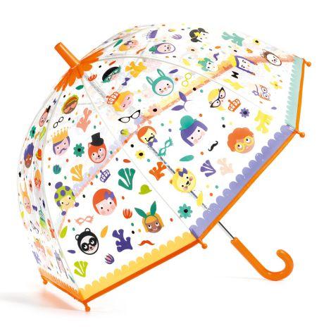 Djeco Regenschirm Gesichter inkl. Farbwechsel