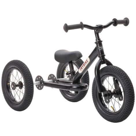 Trybike Dreirad / Laufrad All Black Edition 2 in 1