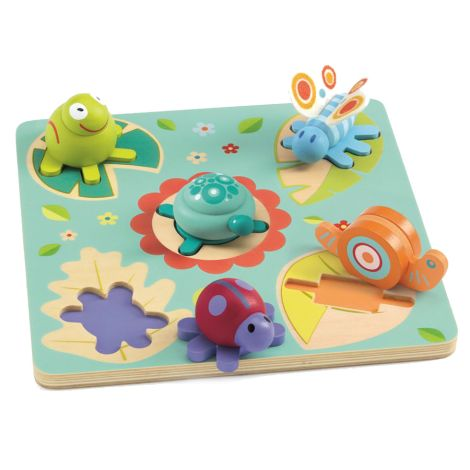 Djeco Holzpuzzle Turtle & Friends