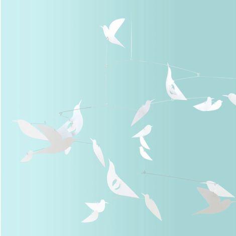 Djeco Papier Mobile Weisse Vögel