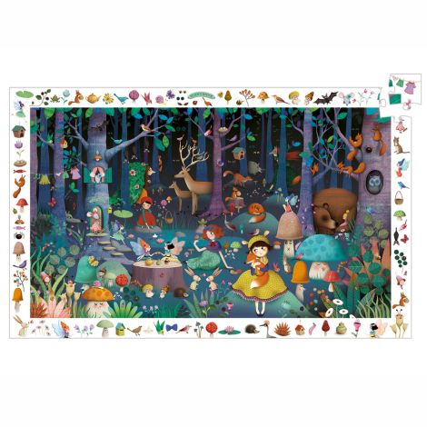 Djeco Entdecker Puzzle Enchanted Forest