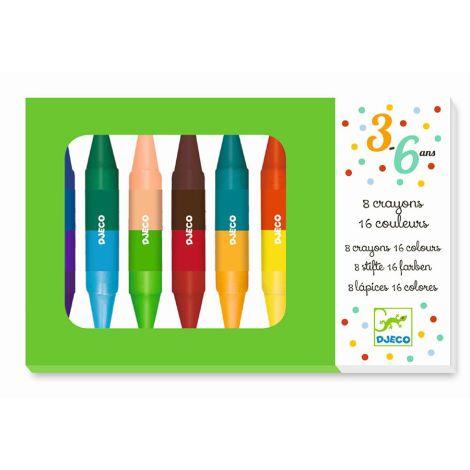 Djeco Wachsdoppelstifte 8 Farben