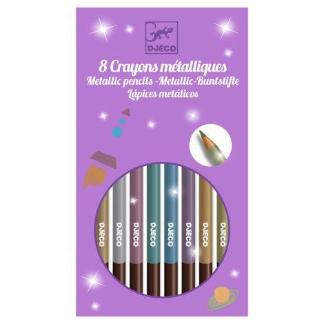 Djeco Farbstifte 8 Metallic Pencils