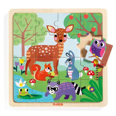 Djeco Holz Puzzle Wald