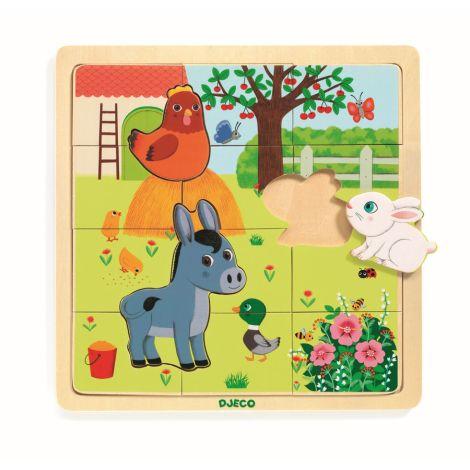 Djeco Holz Puzzle Puzzlo Farm •