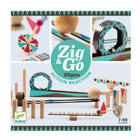 Djeco Zig & Go Aktion-Reaktion-Baukasten 28-teilig