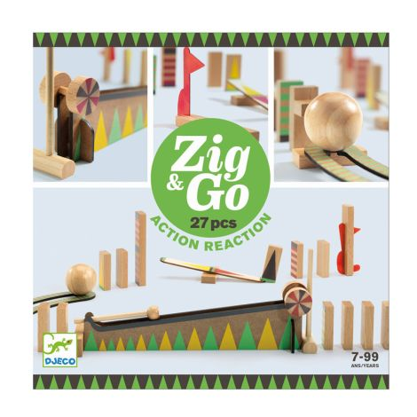 Djeco Zig & Go Aktion-Reaktion-Baukasten 27-teilig