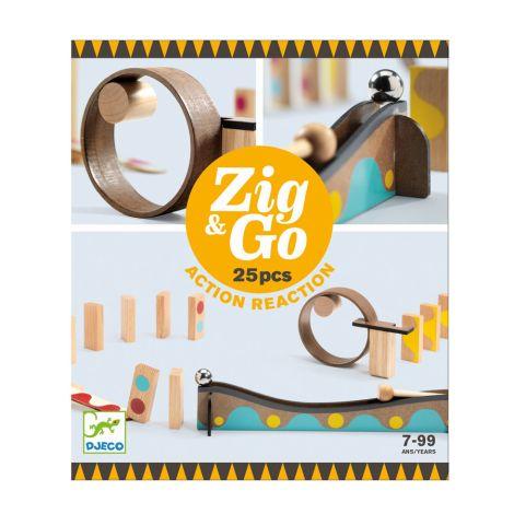 Djeco Zig & Go Aktion-Reaktion-Baukasten 25-teilig