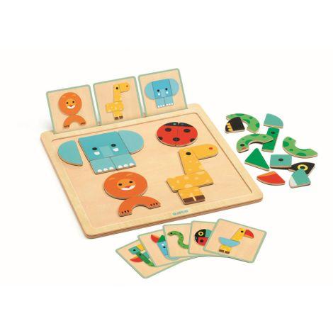 Djeco Magnet-Legespiel GeoBasic