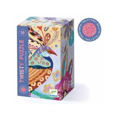 Djeco Twisty Puzzle Funkelnder Vogel - 50 Teile
