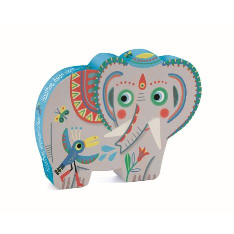 Djeco Puzzle Silhouette Haathee Asian Elephant 24 Teile