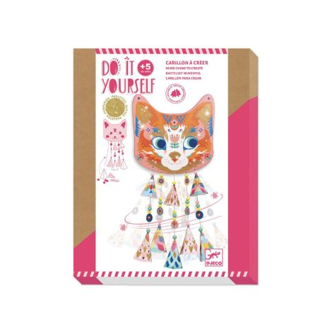 Djeco Do it yourself Windspiel Kitty