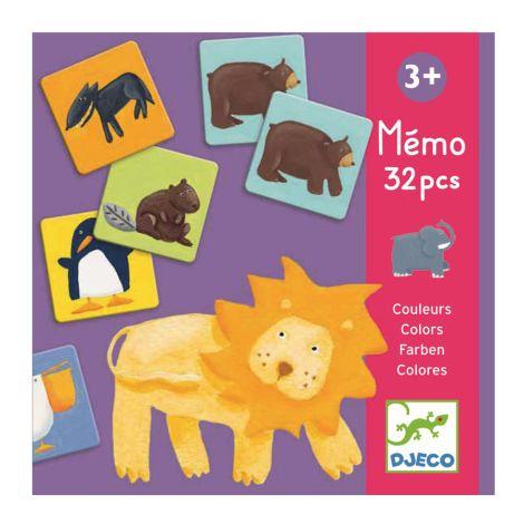 Djeco Lernspiel Memo Bunte Tiere