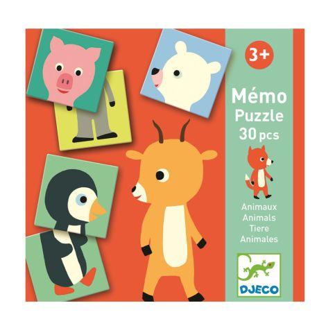 Djeco Lernspiele Memo Animo-Puzzle