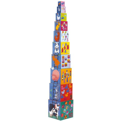 Djeco Stapelturm Funny Blocks