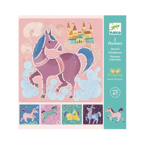 Djeco Schablonen Pferde