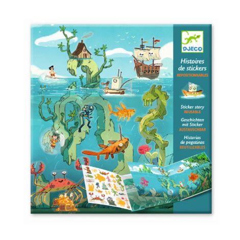 Djeco Geschichten mit Sticker Meeresabenteuer