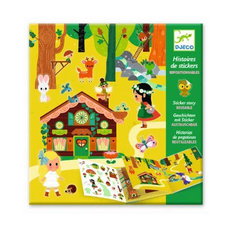 Djeco Geschichten mit Sticker Zauberwald