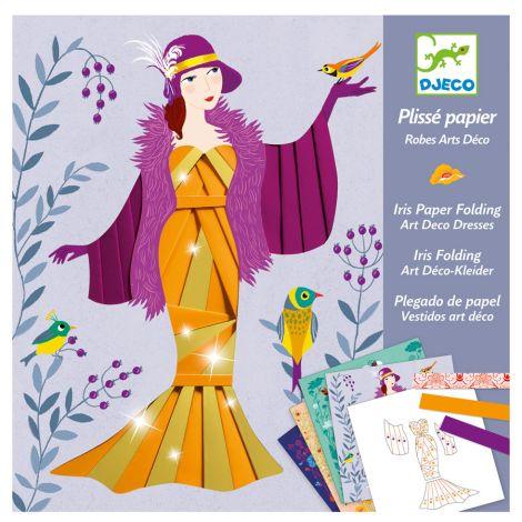 Djeco Papierkunst Plissé Papier - Art Deco Dresses