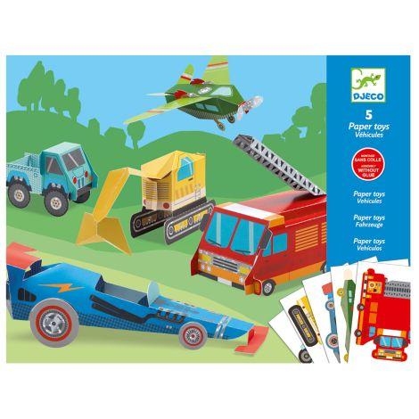 Djeco Papierspielzeug: Trucks