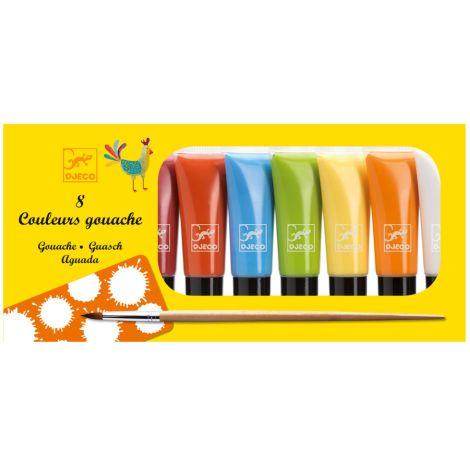 Djeco Gouache-Farben 8 Classic Colours