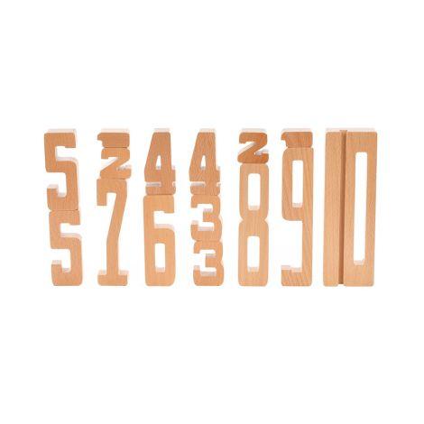 byASTRUP Buchstaben aus Holz Rechnen lernen 15-teilig