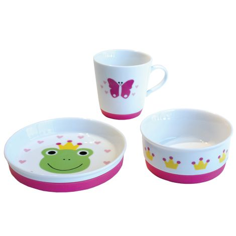 JaBaDaBaDo Porzellan Kindergeschirr-Set Frosch 3-teilig