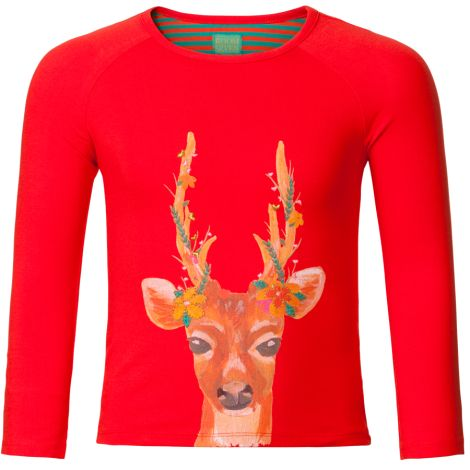 Room Seven Sweatshirt Tammy Solid Red, Deer