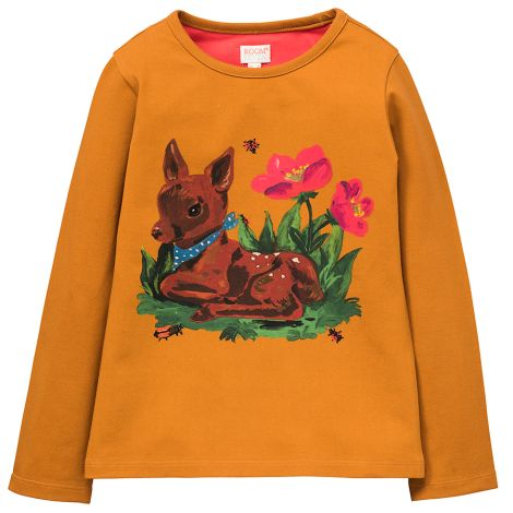 Room Seven Langarm-Shirt Tin Deer Brown